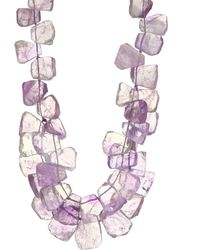 Nest - Amethyst Cluster Necklace - Lyst