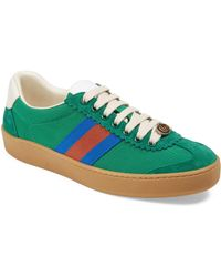 Gucci - Canvas & Suede Sneakers - Lyst