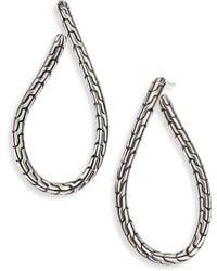 John Hardy - Classic Chain Sterling Silver Twisted Hoop Earrings/2 - Lyst