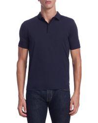 Armani | Spread Collar Polo | Lyst