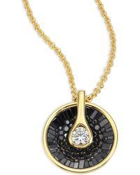 Plevé - Opus Black Diamond & 18k Yellow Gold Pendant Necklace - Lyst