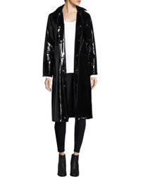 Jane Post - High Shine Slicker Long Coat - Lyst
