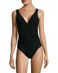 Shan - Picasso Deep V One Piece - Lyst