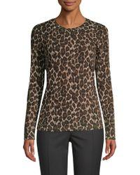 Weekend by Maxmara - Moda Leopard Print Knit Top - Lyst