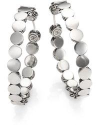 John Hardy - Dot Sterling Silver Hoop Earrings/1.5 - Lyst