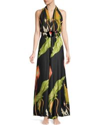 Sinesia Karol - Women's Botanical Garden Mia Silk Maxi Dress - Tulipa - Size Large - Lyst