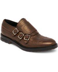 Alexander McQueen - Leather Triple Monk Strap Shoes - Lyst