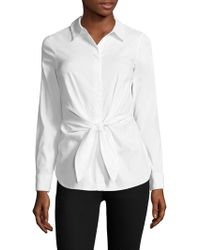 Bailey 44 - Shinto Tie Front Shirt - Lyst