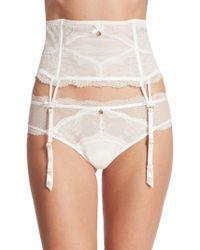 Chantelle - Presage Lace Garter Belt - Lyst
