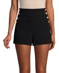 Alice + Olivia - Donald Side-buttoned Shorts - Lyst