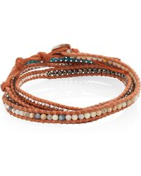 Chan Luu | Beaded Leather Wrap Bracelet | Lyst