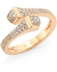 c7b524ba39df84 Marli Fifi Diamond & 18k Gold Multi-strand Ring in Metallic - Lyst
