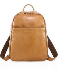 Brunello Cucinelli - Camel Leather Backpack - Lyst