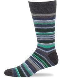 Saks Fifth Avenue - Multi Striped Crew Socks - Lyst