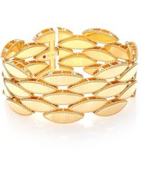 Roberto Coin - Retro 18k Yellow Gold Wide Bracelet - Lyst