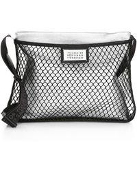 af7a5b1eca Maison Margiela - Women s Mesh   Metallic Leather Crossbody Bag - Silver -  Lyst