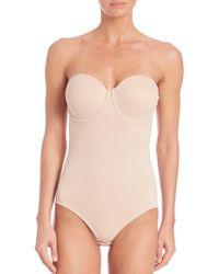 Tc Fine Intimates - Strapless Molded Bodysuit - Lyst