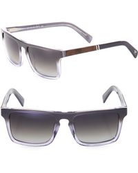 Shwood - 52mm Polarized Rectangle Sunglasses - Lyst