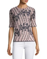 M Missoni - Bicolor Wave Print Knit Top - Lyst