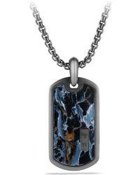 David Yurman - Exotic Stone Pietersite, Titanium & Sterling Silver Tag - Lyst
