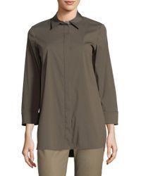 Lafayette 148 New York - Augusta Cotton Shirt - Lyst