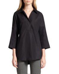 Akris Punto - Elements Cotton Kimono Blouse - Lyst