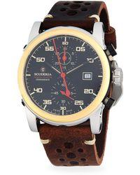CT Scuderia - Testa Piatta Stainless Steel & Leather Strap Watch - Lyst