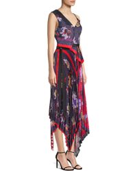 Yigal Azrouël - Pleated Handkerchief Dress - Lyst