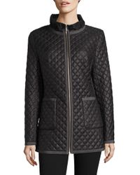 Jane Post - Quilted Satin Jacket - Lyst