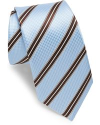 Ike Behar - Blue & Brown Stripe Tie - Lyst