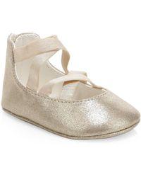 Ralph Lauren - Baby's Priscillia Metallic Ballet Flats - Lyst