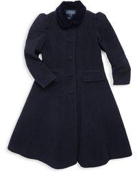 Ralph Lauren - Little Girl's & Girl's Velvet Collar Princess Coat - Lyst