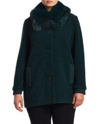Stizzoli - Fox Fur Knitted Coat - Lyst