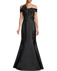 Basix Black Label - Off-the-shoulder Bow Front Mermaid Gown - Lyst