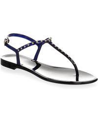 L.K.Bennett - Studded Jelly Thong Sandals - Lyst