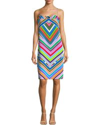 MILLY | Marissa Patterned Shift Dress | Lyst