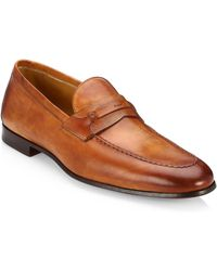 Saks Fifth Avenue - Collection Tobacco Tri-media Penny Loafer - Lyst