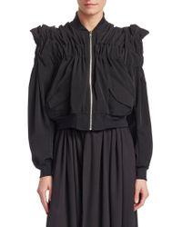 Noir Kei Ninomiya - Ruched Shoulder Bomber Jacket - Lyst