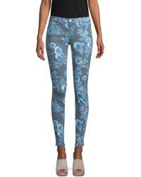 J Brand - Floral Super Skinny Jeans - Lyst