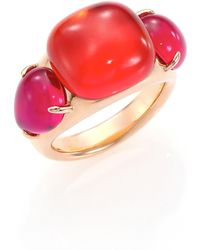 Pomellato - Rouge Passion Tangerine Three-stone Ring - Lyst