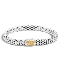 John Hardy | Dot Sterling Silver & 18k Gold Small Chain Bracelet | Lyst