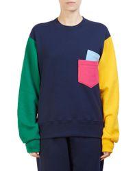 Cedric Charlier - Colorblock Sweatshirt - Lyst