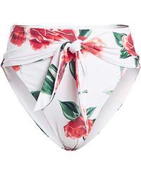 Onia - X Weworewhat Riviera Floral Tie-waist Bikini Bottom - Lyst
