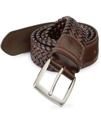 Saks Fifth Avenue - Collection Braided Burnished Leather Belt - Lyst