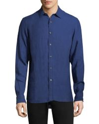 Michael Kors - Crossdye Linen Shirt - Lyst