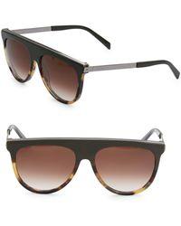 Balmain - 60mm Tortoiseshell Brow Aviator Sunglasses - Lyst