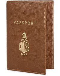 Mark Cross - Leather Passport Case - Lyst