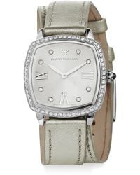 David Yurman - Albion 27mm Metallic Leather Swiss Quartz Watch With Diamonds - Lyst