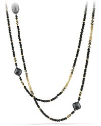 David Yurman - Midnight Ice Châtelaine Necklace With Hematine, Black Spinel & 18k Gold - Lyst