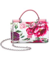 Dolce & Gabbana - Dauphine French Flap Floral Bag - Lyst